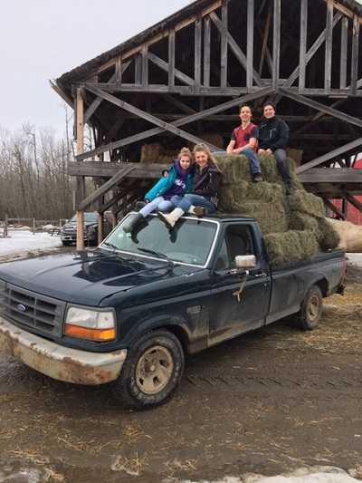 General - Blog - Teens in hay truck