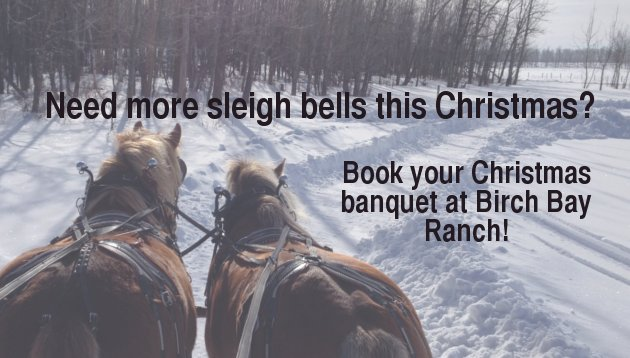Book your Christmas Banquet at Birch Bay Ranch!